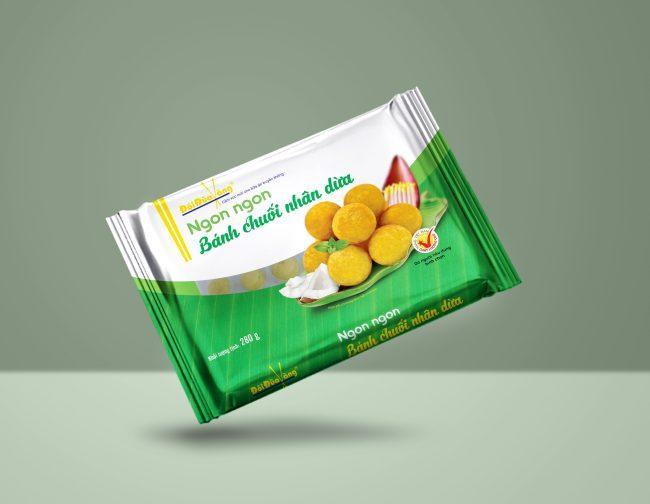 Bánh chuối hương dừa thương hiệu Đôi Đũa Vàng