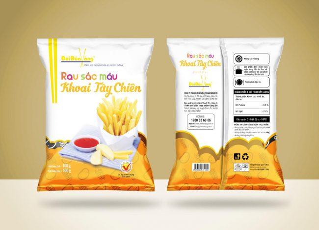 Hình ảnh khoai tây chiên thương hiệu Đôi Đũa Vàng