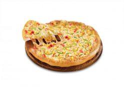 Pizza nhân phô mai nướng vàng rộm
