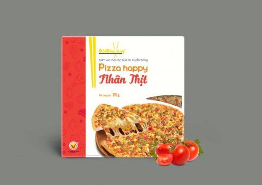 Hình ảnh pizza nhân thịt thương hiệu Đôi Đũa Vàng