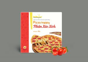 Hình ảnh pizza nhân xúc xích thương hiệu Đôi Đũa Vàng