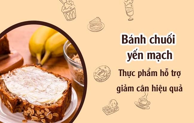 Cách làm bánh chuối yến mạch giảm cân