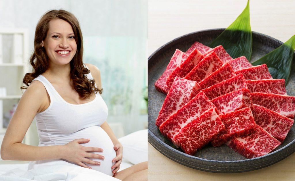 Thịt bò cung cấp protein dồi dào cho mẹ và bé