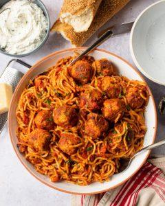 Cách Nấu Mì Ý Sốt Thịt Viên Bằng Nồi Áp Suất Siêu Ngon