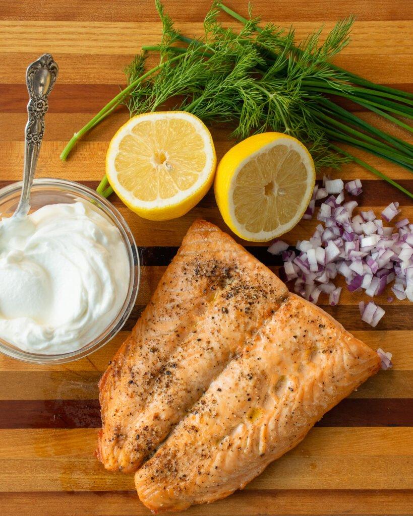 Cách nấu chín cá hồi