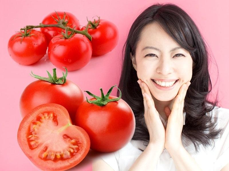 cà chua giúp làn da trắng mịn