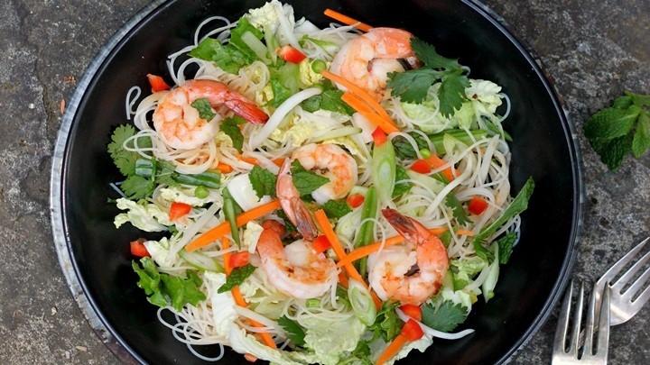 salad tôm biển