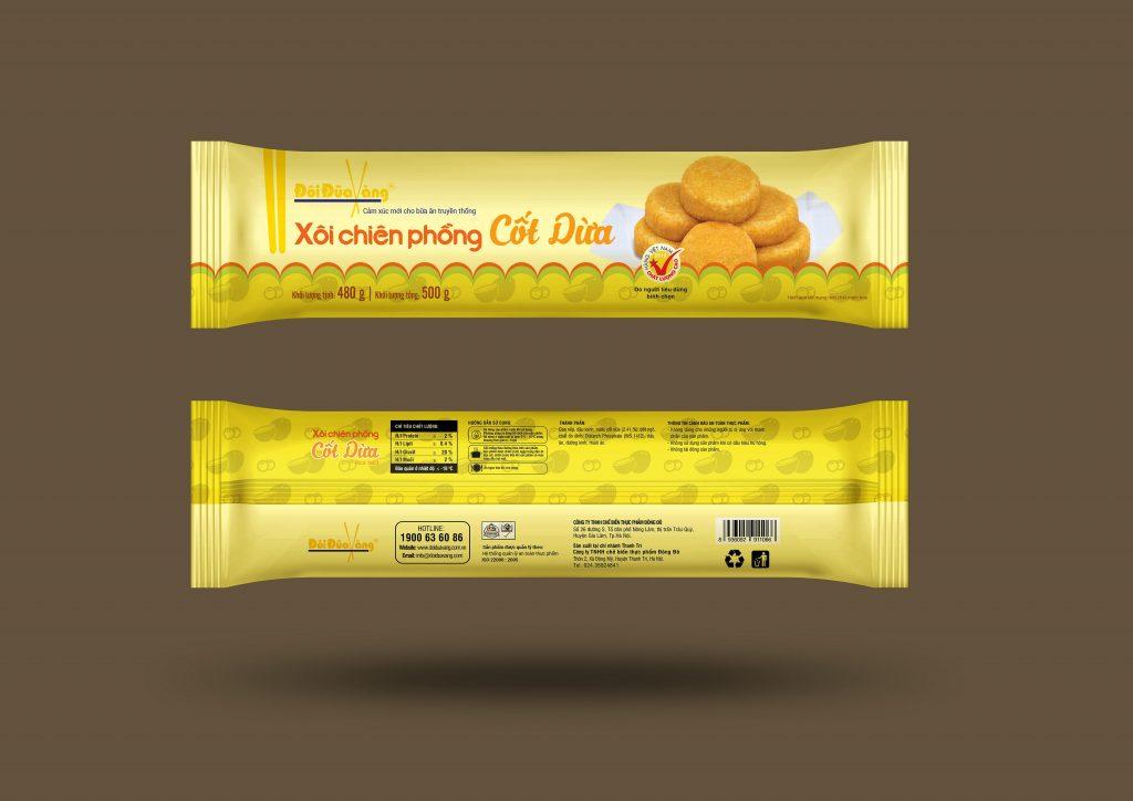 Sản phẩm xôi chiên phồng Đôi Đũa Vàng của công ty TNHH chế bến thực phẩm Đông Đô
