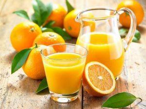 nước cam giúp phát triển thị lực