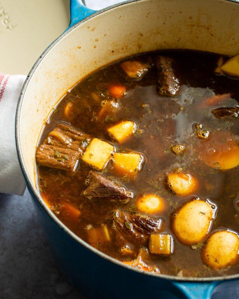 hầm thịt bò trong 1 giờ