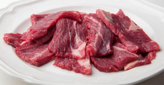 thái nhỏ thịt bò thật luôn đều màu