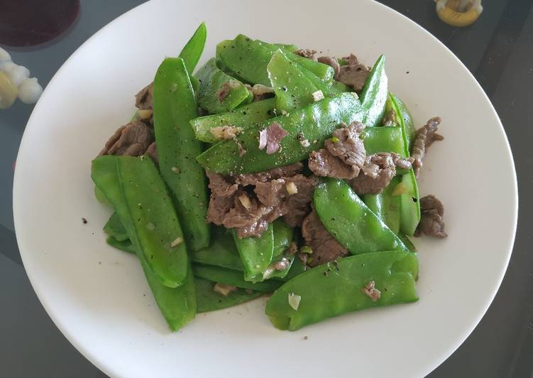 Thịt bò xào đậu hà lan
