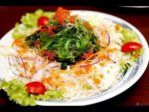 Cách làm salad rong biển trứng cua