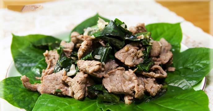 Cách làm thịt bò xào lá lốt
