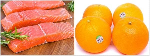 Nguyên liệu làm cá hồi sốt cam