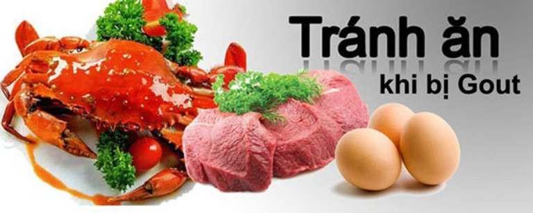 thực phẩm cần tránh khi bị bệnh gout