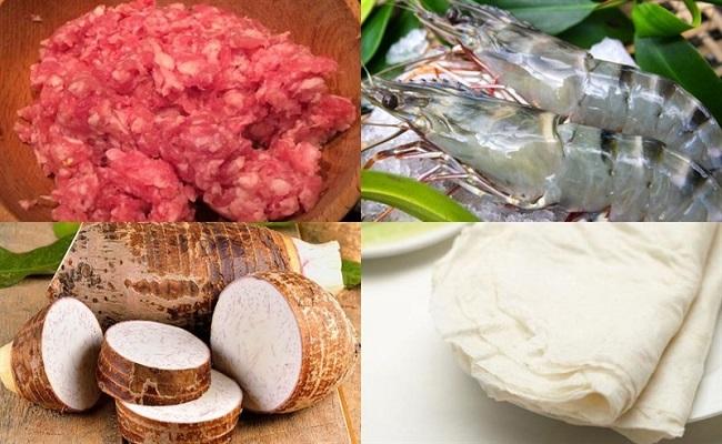 cách chọn nguyên liệu làm chả giò tôm thịt
