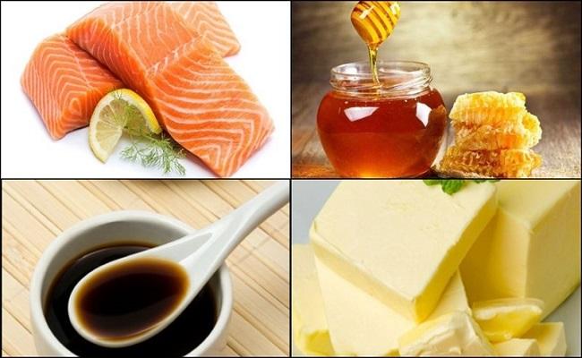 Nguyên liệu làm cá hồi nướng mật ong